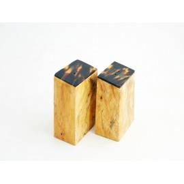 Sel et poivre en bois de Tamarinier et Ecaille de Tortue