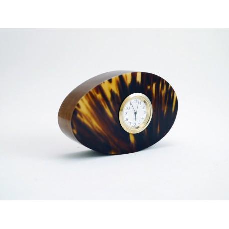 Magnifique Horloge en Tamarin et Ecaille