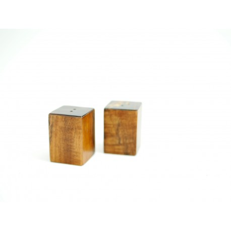 Sel et poivre en bois de Tamarin et Ecaille