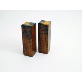 Sel et poivre en bois de Tamarin et Ecaille de Tortue